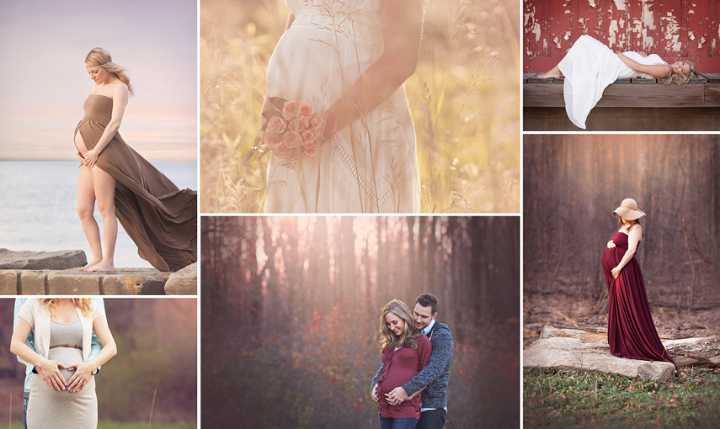 Akron Maternity Photography maternity dresses outdoors