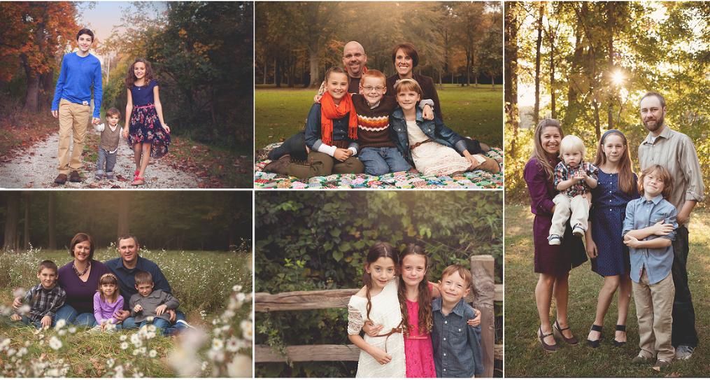 Akron Family Photographer fall family photos in ohio