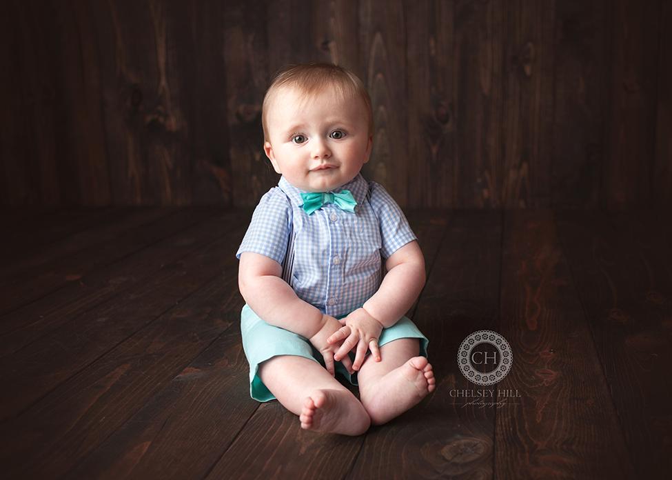 baby boy 9 month milestone studio session