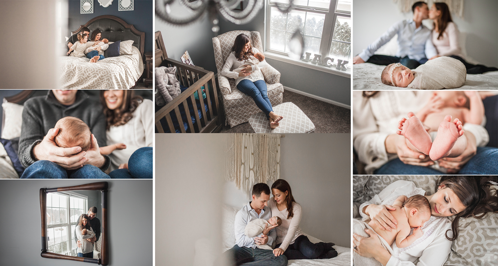 What is lifestyle newborn session in-home session Cleveland newborn photographer