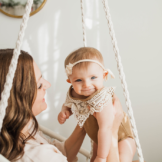 Bohemian styled mommy & me session held in Cleveland by top rated Cleveland photographer Chelsey Hill Photography