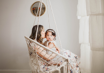 Mommy and me mini sessions that capture motherhood indoor lifestyle session by Cleveland family photographer Chelsey Hill Photography