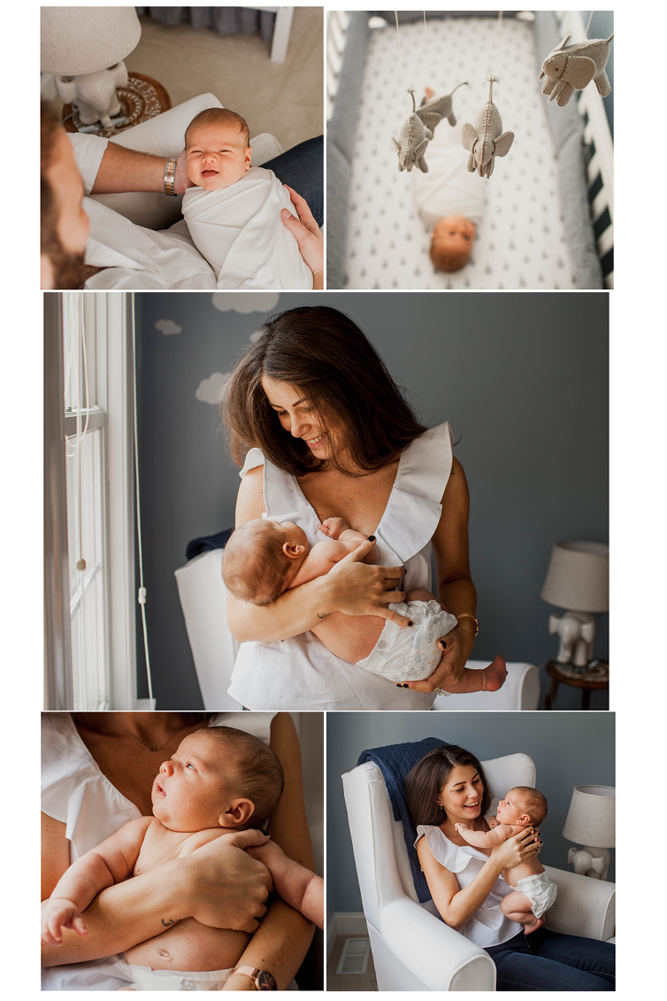 Clevelands best newborn photographer shows you how to pose during lifestyle in-home newborn sessions