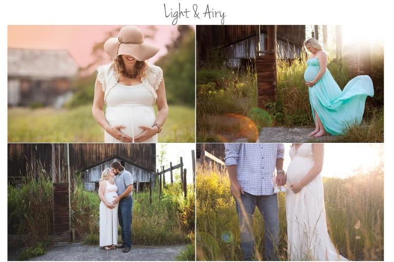 maternity photos of long maternity dresses