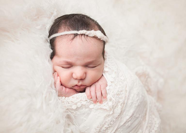 Studio newborn photographer by top Cleveland newborn photographer Chelsey Hill Photography
