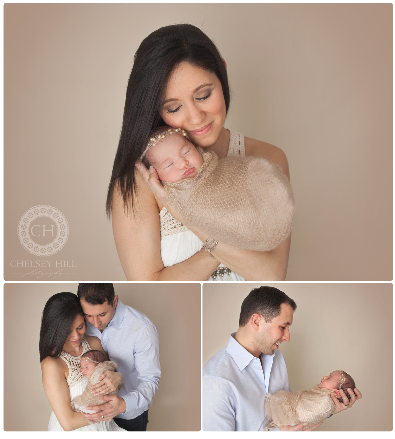newborn girl photos with parents