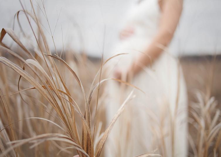 Photographer Akron Ohio maternity shoot in field