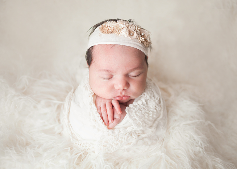 Studio newborn photographer by top Cleveland newborn photographer Chelsey Hill Photography