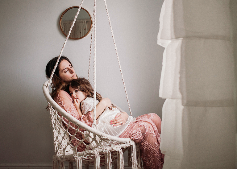 Mommy and me motherhood self-portrait by Cleveland family photographer Chelsey Hill Photography