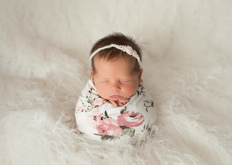 Akron Newborn photographer Studio Portrait session