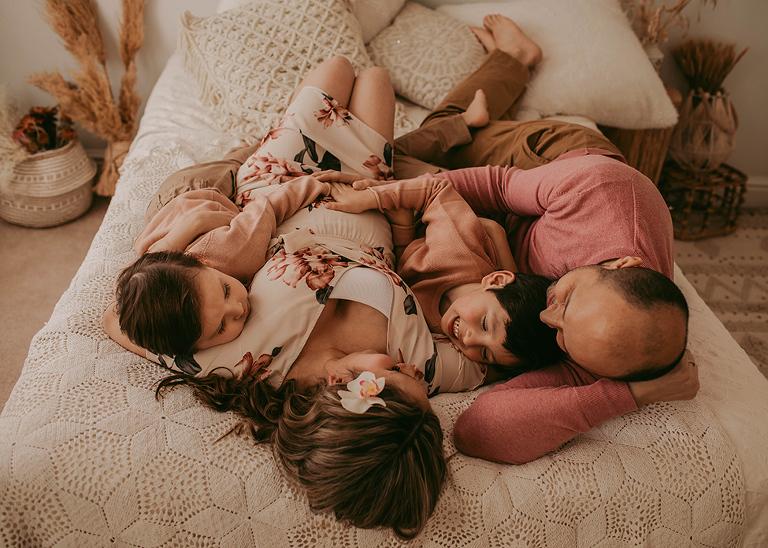 Indoor maternity studio pregnancy photography