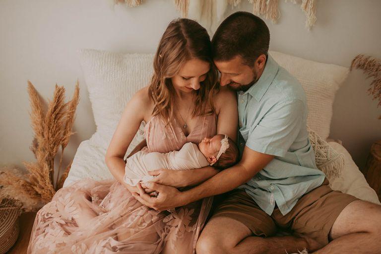 Posed couple newborn session