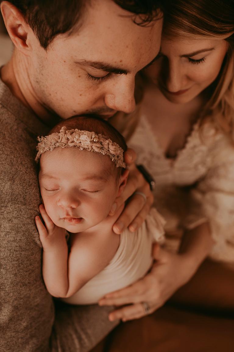 Columbus Ohio newborn photographer studio boho lifestyle